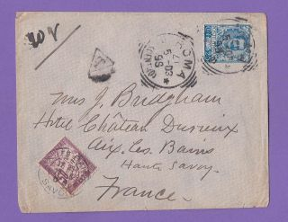 Italy - France Very Rare Cover 1905,  For Age,  Bargain photo