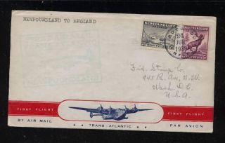 Newfoundland Airmail Cover 1939 photo