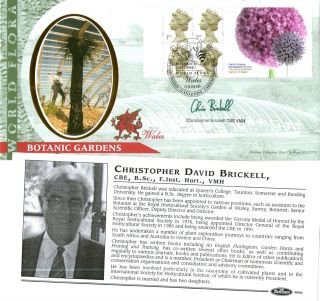4 April 2000 Botanic Label Benham Blcs 179 Fdc Signed By Christopher Brickell photo