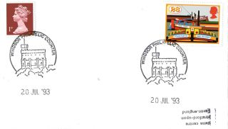 20 July 1993 Inland Waterways Cover Windsor Philatelic Counter Shs photo