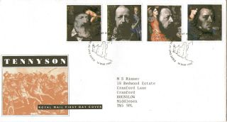10 March 1992 Tennyson Royal Mail First Day Cover Isle Of Wight Shs photo