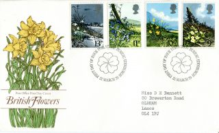 21 March 1979 Spring Flowers Post Office First Day Cover Bureau Shs (w) photo