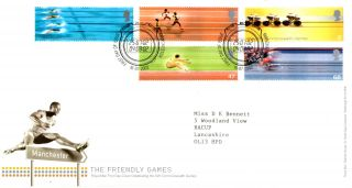 16 July 2002 Commonwealth Games Royal Mail First Day Cover Manchester Shs photo