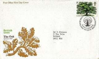 28 February 1973 The Oak Tree Po First Day Cover Plant A Tree Bureau Shs photo