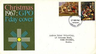 27 November 1967 Christmas Gpo First Day Cover Bethlehem Fdi photo