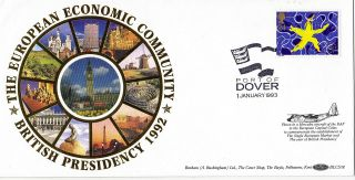 1992 Single European Market Benham Blcs 78 Flown Cover Port Of Dover Shs photo
