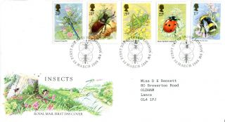 12 March 1985 British Insects Royal Mail First Day Cover London Sw Shs (w) photo