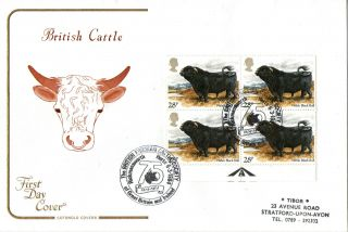6 March 1984 British Cattle Cotswold First Day Cover Fresian Cattle Society Shs photo