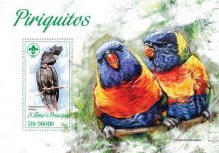 St.  Thomas - 2013 Glossy Black Cockatoo - Stamp Souvenir Sheet - St13414b photo