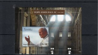 Tuvalu 2013 Pope John Paul Ii 1920 - 2005 1v S/s Popes Catholic Church People photo