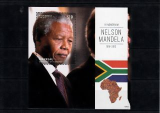 Mayreau Grenadines St Vincent 2013 Nelson Mandela In Memoriam Ii 1v S/s Anc photo