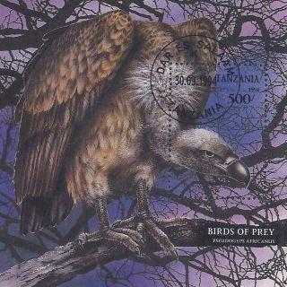 1994 Tanzania Postage Souvenir Sheet Large Birds Of Prey Vulture Buzzard Cto photo