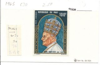 Mali 1965 Pope John Xxiii Scott C30, photo
