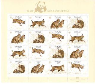 Portugal 1988 Lynx World Wildlife Fund Mini - Sheet (sc 1719a) photo