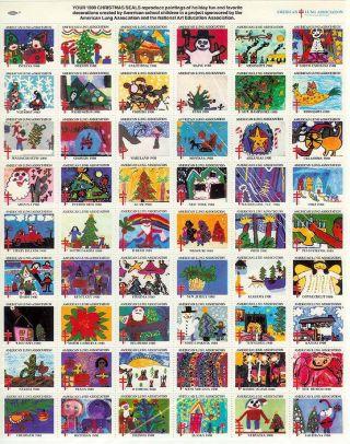 Sheet Of 1980 Christmas Seals photo