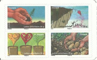 France 2011 - Stamp Day 2011 Children Art Plants Tree Flowers Conservation - photo