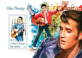 Sao Tome 2013 Elvis Presley Music Legend S/s photo