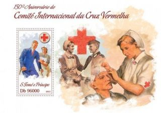 Sao Tome 2013 Red Cross Medicine Nurse S/s photo