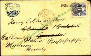 1869 114 3¢ Ultramarine Postal Cover Unusual Usage Unknown Cancel Boston Mass photo