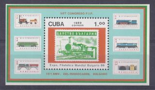 Caribbean Island Transport 1989 Mi.  Bl.  115 Og Vf (a825). photo