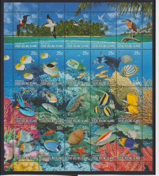 Cocos Islands Coral Reefs Sheet Of 20 Scott 344 photo
