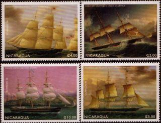 Nicaragua Sailing Ships Sc 2256 - 2259 1999 photo