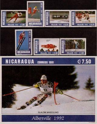 Nicaragua Winter Olympics Albertville Sc 1918 - 1925 1992 photo