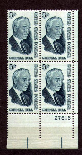 Usa 1963 5c Cordell Hull Longest - Tenured U.  S.  Secretary Of State - 1235 photo