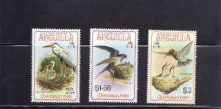 Anguilla 1980 Birds Scott 399 - 401 photo