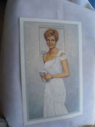 Togo Stamp Of Princess Diana White Chiffon Evening Dress photo