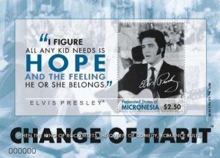 Micronesia - Elvis Presley Change Of Habit - Stamp S/s - Mic0908 photo