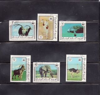 Mauritania 1978 Endangered Species Scott 383 - 88, photo