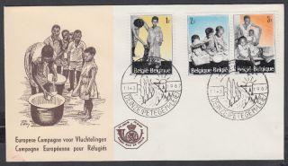 1967 Belgium Child Welfare Fdc; Deinze Shs photo