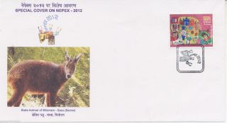 [indsazc12] Antelope,  Goat,  Serow,  Mountain Goats,  Cover,  Nepex,  India,  2012 photo