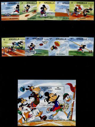 Anguilla 559 - 68 Disney,  Sports,  Olympics photo