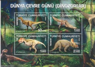[turdin12] Dinosaurs,  Jurassic,  Extinct Animals,  Fauna,  Sheet,  Turkey,  2012 photo