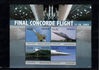 Grenada 2013 Concorde Final Flight 4v M/s 11 26 2003 Aviation G - Boac Filton photo