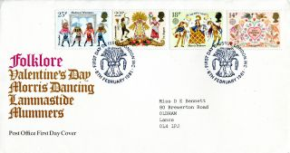 6 February 1981 Folklore Post Office First Day Cover London Wc Shs (w) photo