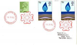 16 June 1992 Cover National Postal Museum Maltese Cross London Ec 1 Shs photo