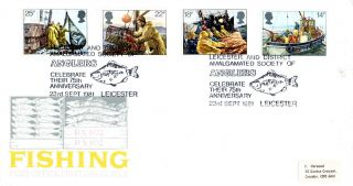 23 September 1981 Fishing Post Office First Day Cover Leicester Anglers Shs photo