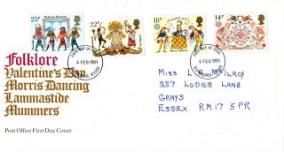 6 February 1981 Folklore Post Office First Day Cover Romford Essex Fdi photo