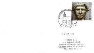 15 June 1993 Roman Britain Cover Windsor Philatelic Counter Shs photo