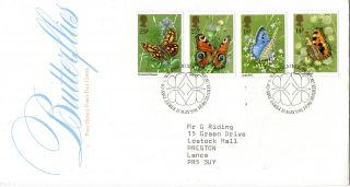 13 May 1981 Butterflies Post Office First Day Cover Bureau Shs photo