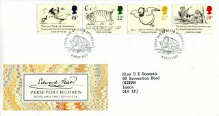 6 September 1988 Edward Lear Royal Mail First Day Cover London N7 Shs (a) photo