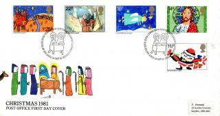 18 November 1981 Christmas Post Office First Day Cover Bethlehem Shs (p) photo