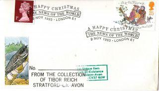 9 November 1993 Christmas Cover News Of The World London E1 Shs photo