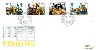 23 September 1981 Fishing Post Office First Day Cover Bureau Shs photo