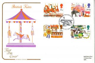 5 October 1983 British Fairs Cotswold First Day Cover Bureau Shs photo