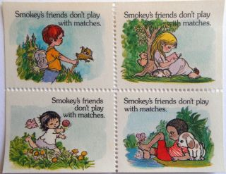 1974 Poster Stamp Sbr69 - 71 Smokey Bear U.  S.  History Cinderella Ephemera Philately photo