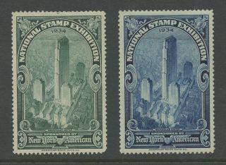 Exhibition 1934 York American Stamp Expo. . .  2 Pictorials photo